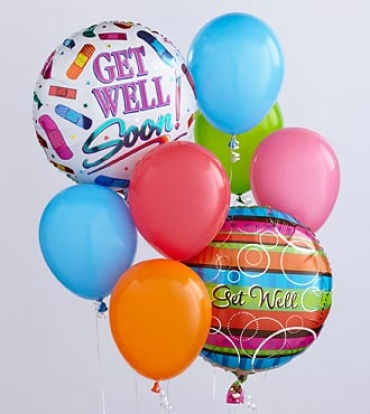 Get Well Balloon Bunch