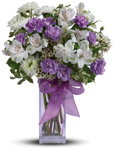 Teleflora\'s Lavender Laughter Bouquet