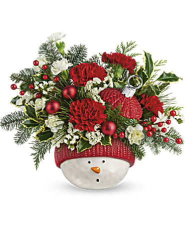 Teleflora Snowman Ornament Bouquet