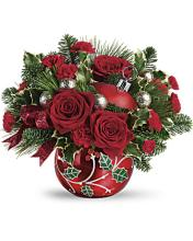 TELEFLORA\'S DECK THE HOLLY ORNAMENT